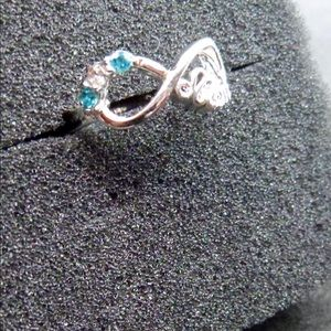 Mom Infinity Opal Ring Size 7
